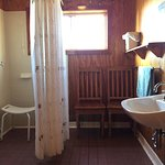 Wheelchair access cabin was very manageable