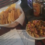 Chips and corn salsa