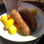 Children's portions of sausages and chips for £3.