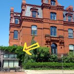 Located at the base of the historical Blaine Mansion c1881, you can done outside, or on part of
