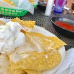 Nachos and sour cream. Wow! A favorite during Brevard video work.