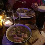 A bowl of coddle and a pint of Plain
