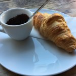Croissant and Melted Dark Chocolate