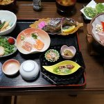 Japanese dinner prepared by the owner
