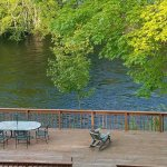 The view of the Contoocook river from the private balcony in the Tooky Nook room.