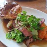 Roast Bolster Moor Farm Rump of Beef, Sea Salt Roasted Potatoes, Yorkshire Pudding, Carrots & Sw
