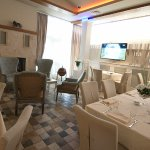 The interior design of the back end of restaurant Bagdala