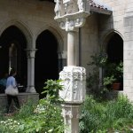 In the Summer the cafe is located around this cloister.