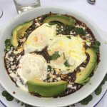 Huevos Tomatillo (also served with fresh corn tortillas)