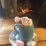 Baileys hot chocolate and a few marshmallows to heat you up