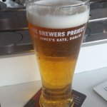Nice cold beer while waiting for flight