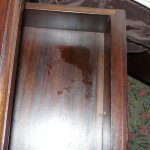 Stained drawer
