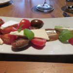 The feta and tomato salad with micro basil