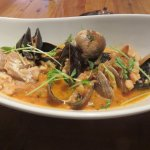 Seafood dish of the day - fantastic broth