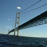 Underneath the Mighty Mack bridge
