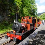 The train at the far end of the line, Nant Gwernol.