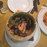 Primi di pesce superlativi con misto di antipasti speciale e mini babà e limoncello finale