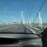au milieu du pont