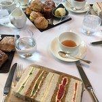 Afternoon tea veggie sandwiches & scones