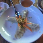 Lamb shank bbq sauce Potstickers with peanut sauce