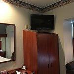 TV high atop closet