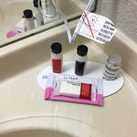 Toiletries...love the lotion!