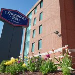 Hampton Inn Ottawa side view during tulip season!