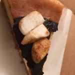 Black iced coffee and s'mores cheesecake
