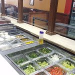 Our new salad bar. Come check it out!