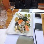 Sushi y temaki riquisimo!!