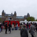 """The famous """"I amsterdam"""" sign/ statue"""