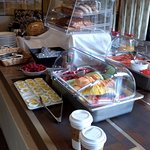Breakfast buffet included fresh fruit, pastries, waffles, smoked salmon, oatmeal and much more.