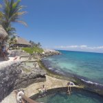 another favorite- the natural pools over looking the ocean @ xcaret