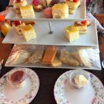 Our selection of sandwiches and cakes on the tea bus