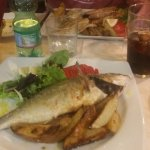 A large fish (Bream I think). Delicious!