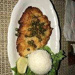 Calamari steak for appetizer