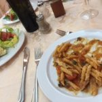 Lovely pasta and great salads