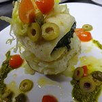 Haddock Roulade stuffed with spinach