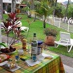 table de cuisine pour manger sur la terrasse