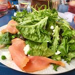 Salade with Smoked Salmon and Montrachet