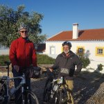 Taking the bikes out for a spin at Casa Mirobriga in Santiago do Caem, Portugal