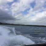 speeding to the dock
