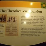 This plaque describes a Cherokee visit to London.