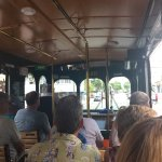 a view from our seats on the trolley tour