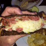 Reuben! Packed with goodness, bread should be grilled. (May 7th 2017)