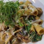 Wild Mushroom, Spinach & Cream Tortiglioni