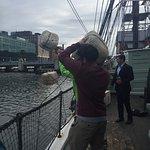 Throwing tea overboard