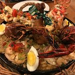 Our delicious seafood paella for two (though seriously, could feed 3-4!)