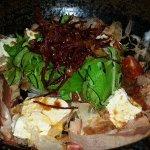 Freshly made tofu salad