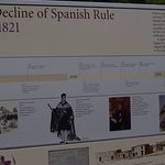 One section of a large Alamo timeline.